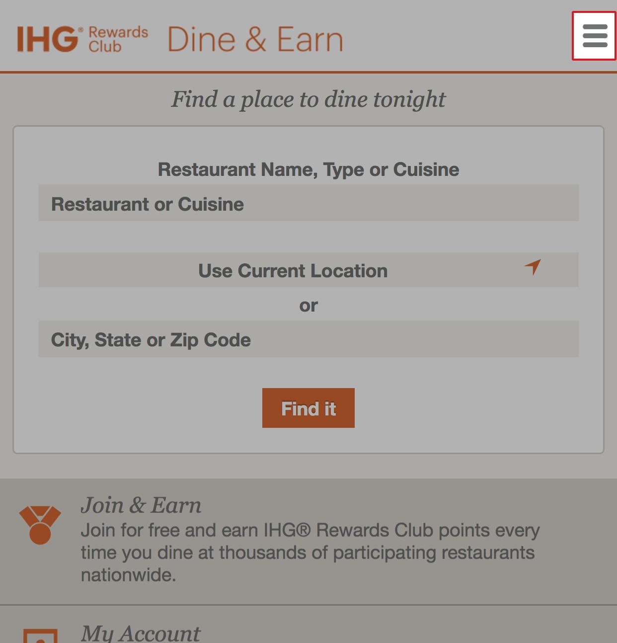 My account is locked  – IHG Rewards Club Dining Help Center